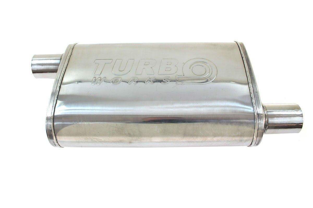 Tłumik Środkowy 63,5mmTurboWorks LT 409SS - GRUBYGARAGE - Sklep Tuningowy